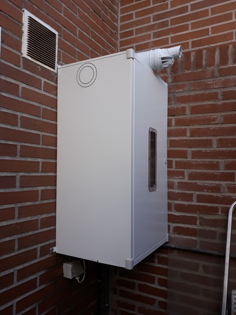 Armario de alumio exterior para calderas